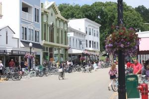Busy Street Scene - Mackinac Island